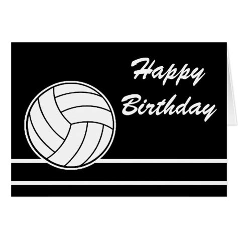 free printable volleyball birthday cards volleyball happy birthday card zazzle best happy