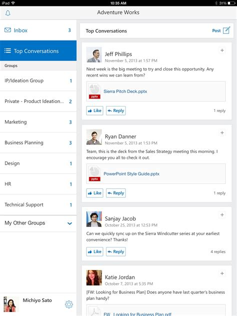 design app screenshots get going with new yammer mobile apps office blogs