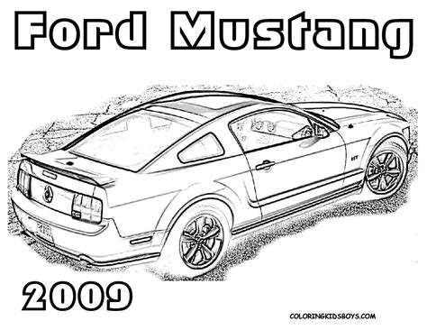 coloring pictures of mustangs cars car 23 ford mustang 2009 coloring pages book for kids boys