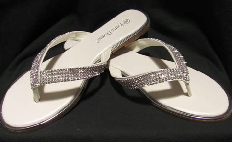 Rhinestone Flip Flops bridal flip flops comfortable wedding shoes
