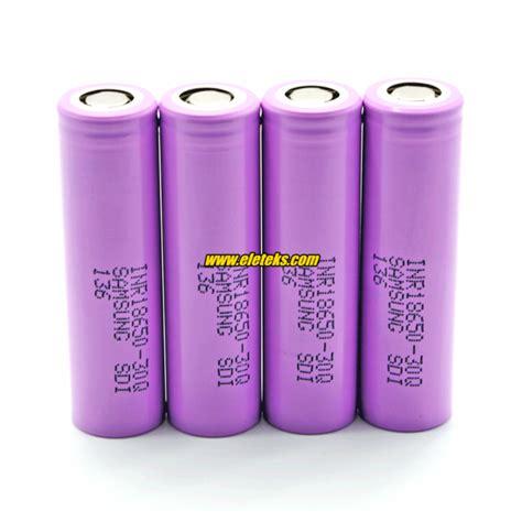 Samsung Inr 18650 30q Li Ion Battery 3000mah 37v With Flat Top 2yz5 samsung inr18650 30q 3000mah 3 7v 15a discharge li ion