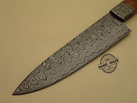 custom handmade damascus steel chef kitchen knife with professional damascus kitchen chef s knife custom handmade