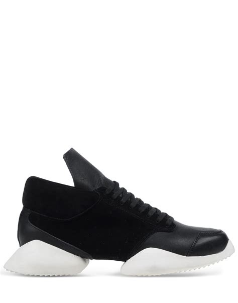 adidas rick owens rick owens x adidas low tops trainers in black for men