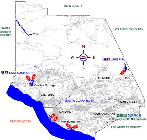 ventura county california map ventura county boat rs map
