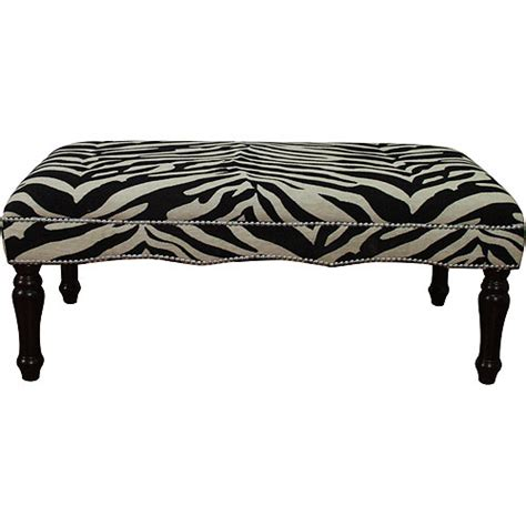 zebra print bench complete your safari themed home decor with animal print
