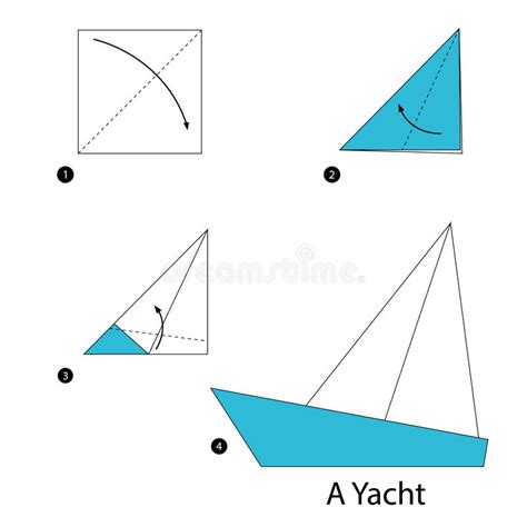 boat cartoon step by step step by step instructions how to make origami a yacht