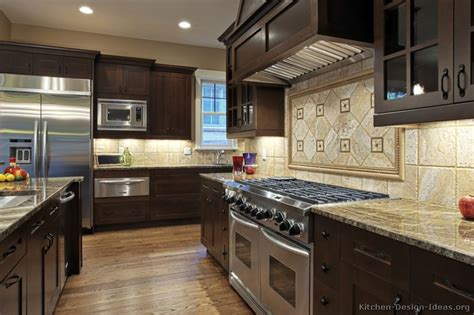kitchen cabinets dark wood gourmet kitchen design ideas
