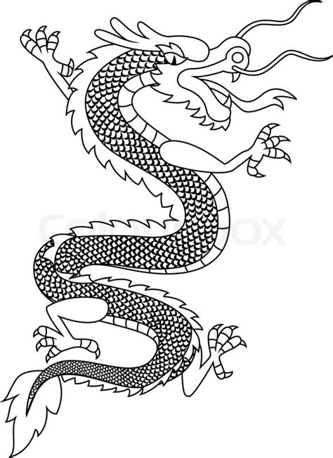 Vase Suppliers Chinese Dragon Tattoo Stock Vector Colourbox
