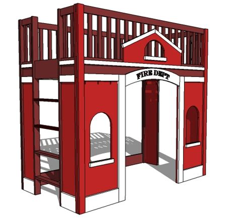 firehouse bunk bed white station loft bed diy projects