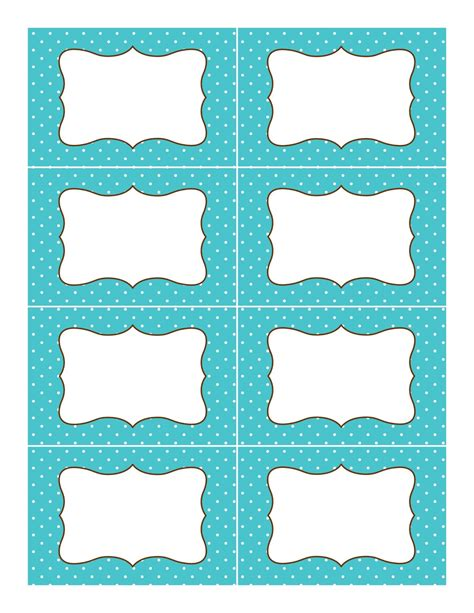 label stickers templates free printable polka dot labels