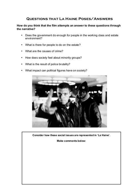 La Haine Essay by La Haine Course Booklet