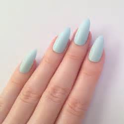 matte colored nails matte pastel blue stiletto nails nail by prettylittlepolish