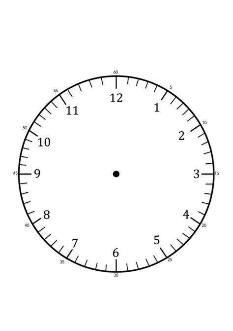 hour and minute template clock faces for use in learning to tell the time craft
