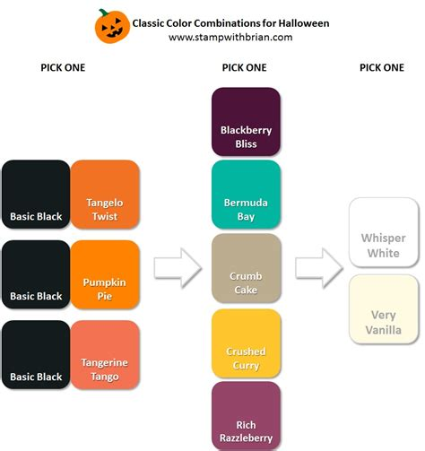 classic colors color inspiration for halloween stamp with brian
