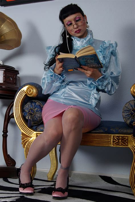 Trinity Productions The Strict Satin Matron In Pantyhose And Crotchless Panty At Dbnaked Com