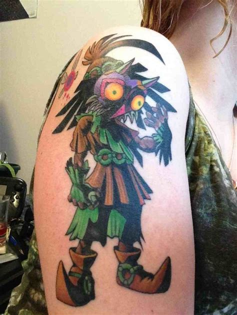 majora s mask tattoo majora s mask nintendo tattoos