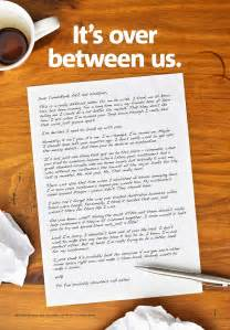 Best Break Up Letter On Facebook Bank S Massive Guerilla Break Up Campaign Mocks Competitors