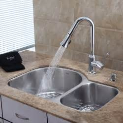 Pictures Of Kitchen Sinks And Faucets by Stainless Steel Kitchen Sink Combination Kraususa