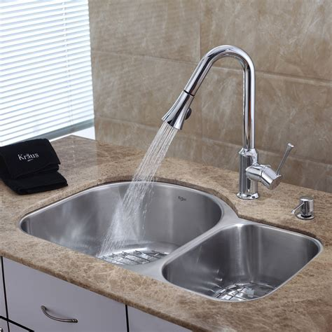 faucets for kitchen sink stainless steel kitchen sink combination kraususa