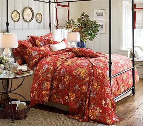 red floral comforter luxury red floral bedding set 100 egyptian cotton sheets