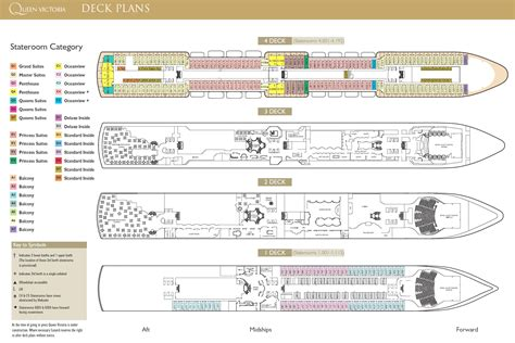 cunard cabin layout 7 seas qv world cruise deck plan