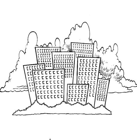 free coloring pages of skyline of chicago