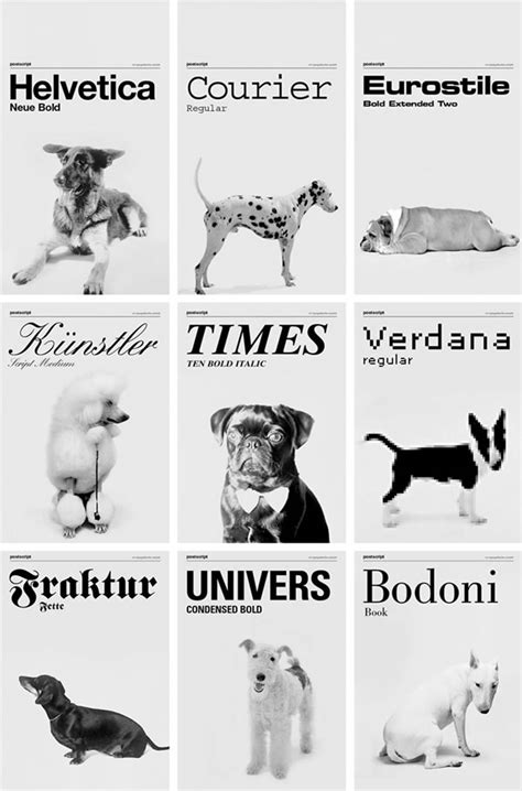 puppy font fonts or is it font dogs neatorama