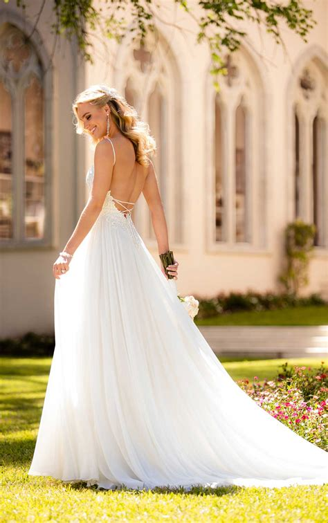 casual wedding dress  silk chiffon stella york