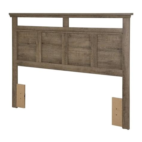 Wood Panel Headboard South Shore Versa Wood Panel Headboard In Weathered Oak 9066256