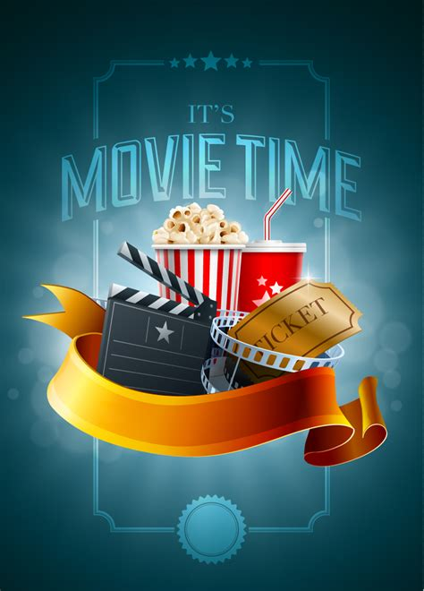 film it s impossible movie time ticket vector free vector graphic download