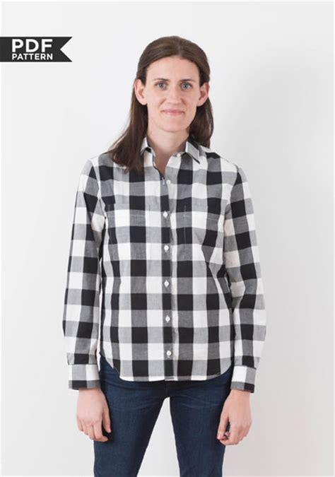 pattern button up digital archer button up shirt sewing pattern shop