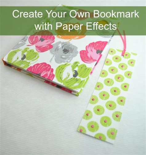 Your Own Paper - decoart crafts create your own bookmark with