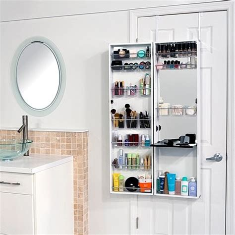 over the door mirror with storage cabinet over the door beauty armoire with full length mirror