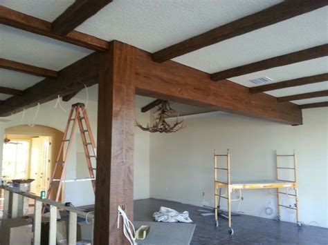 faux beams matching synthetic wood with existing wood faux wood workshop