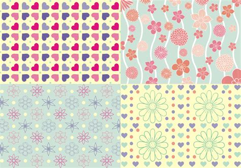 pattern free girly patterns free vector free vector