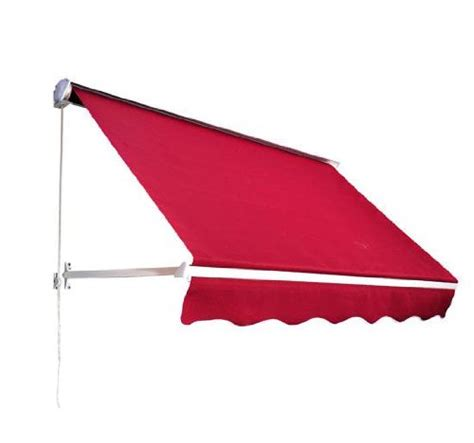 awning red awardpedia outsunny 6 drop arm manual retractable window awning red