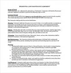 Contract For Services Template Free by Lawn Service Contract Template 7 Documents In Pdf