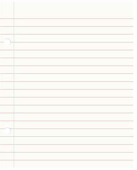 Of Paper - sheet of notebook paper clipart clipartxtras