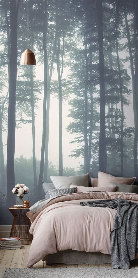 rainforest bedroom sea of trees forest mural wallpaper muralswallpaper co