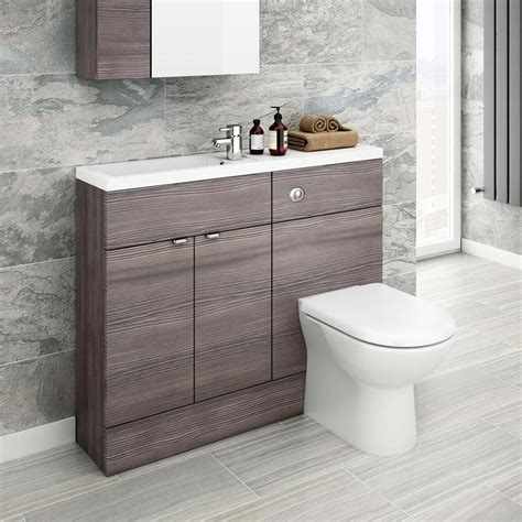 slimline bathroom suites brooklyn grey avola slimline combination furniture pack