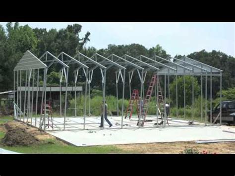 Pole Barn With Apartment Plans metal building construction in 2 days youtube