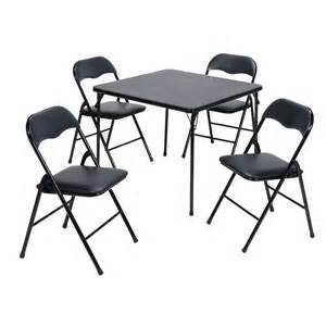 In x 34 in square steel folding table and four chairs set at lowes com