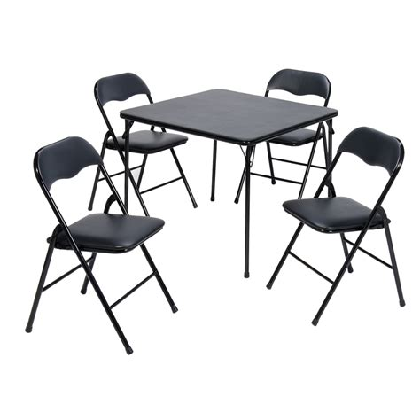 card tables at lowes shop suddencomfort 33 7 in x 33 7 in square steel black
