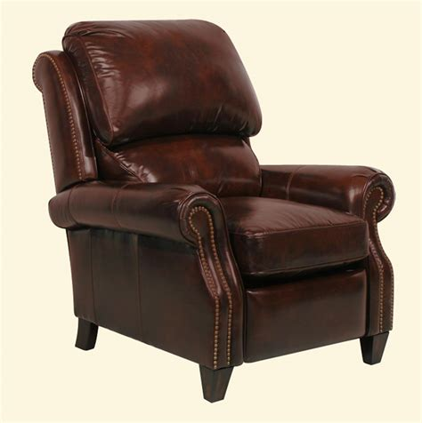 Barcalounger Leather Recliners by Barcalounger Churchill Ll Vintage Reserve Leather Recliner