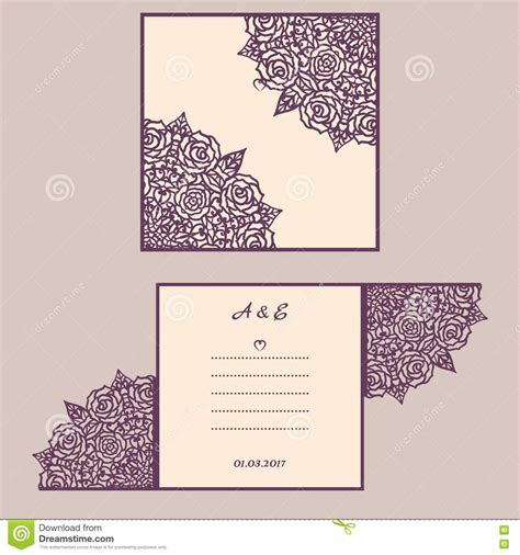 greeting card envelope template mailing wedding invitation or greeting card with abstract ornament