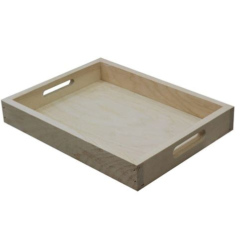 Vanity Perfume Tray Crates Amp Pallet 17 5 In Unfinished Wood Pine And Birch