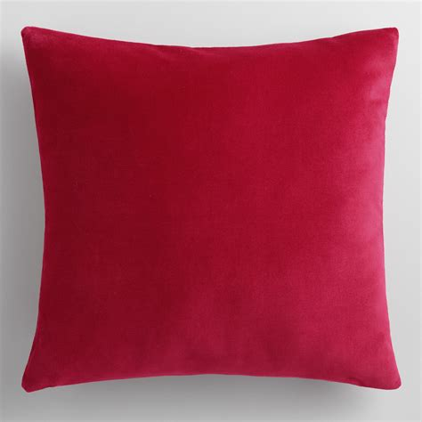Velvet Throw Pillows Cherry Velvet Throw Pillow World Market