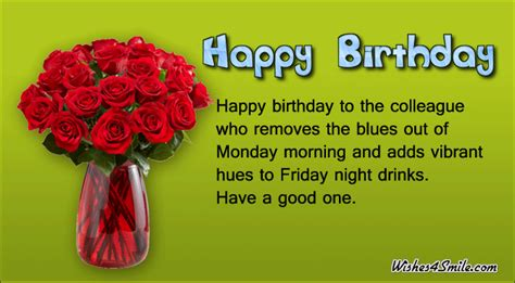 happy birthday wishes for colleague wishes4smile