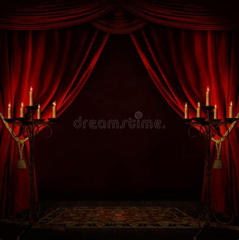 creepy curtains creepy room stock image image of candle indoor