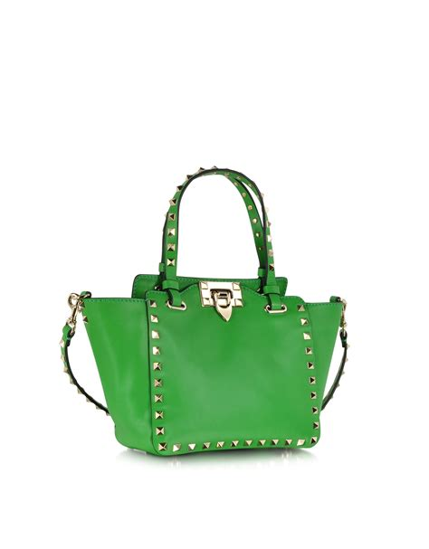 Tote Bag 1 Direction 1 lyst valentino rockstud green leather mini tote bag in green